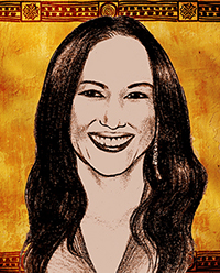 drawing of Irene Bedard