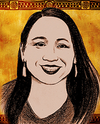 drawing of Sharice Davids