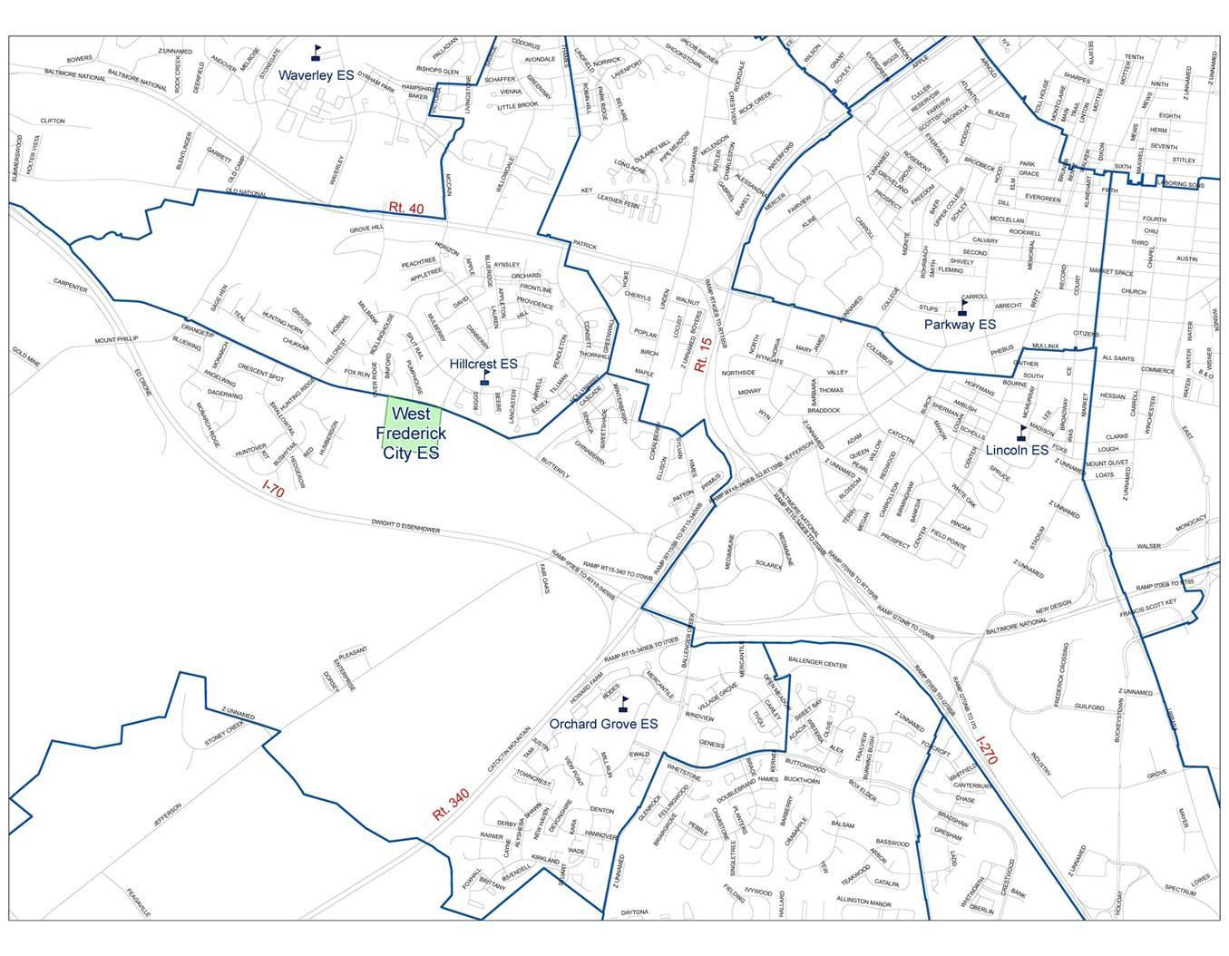 Butterfly Ridge Elementary School Site Map