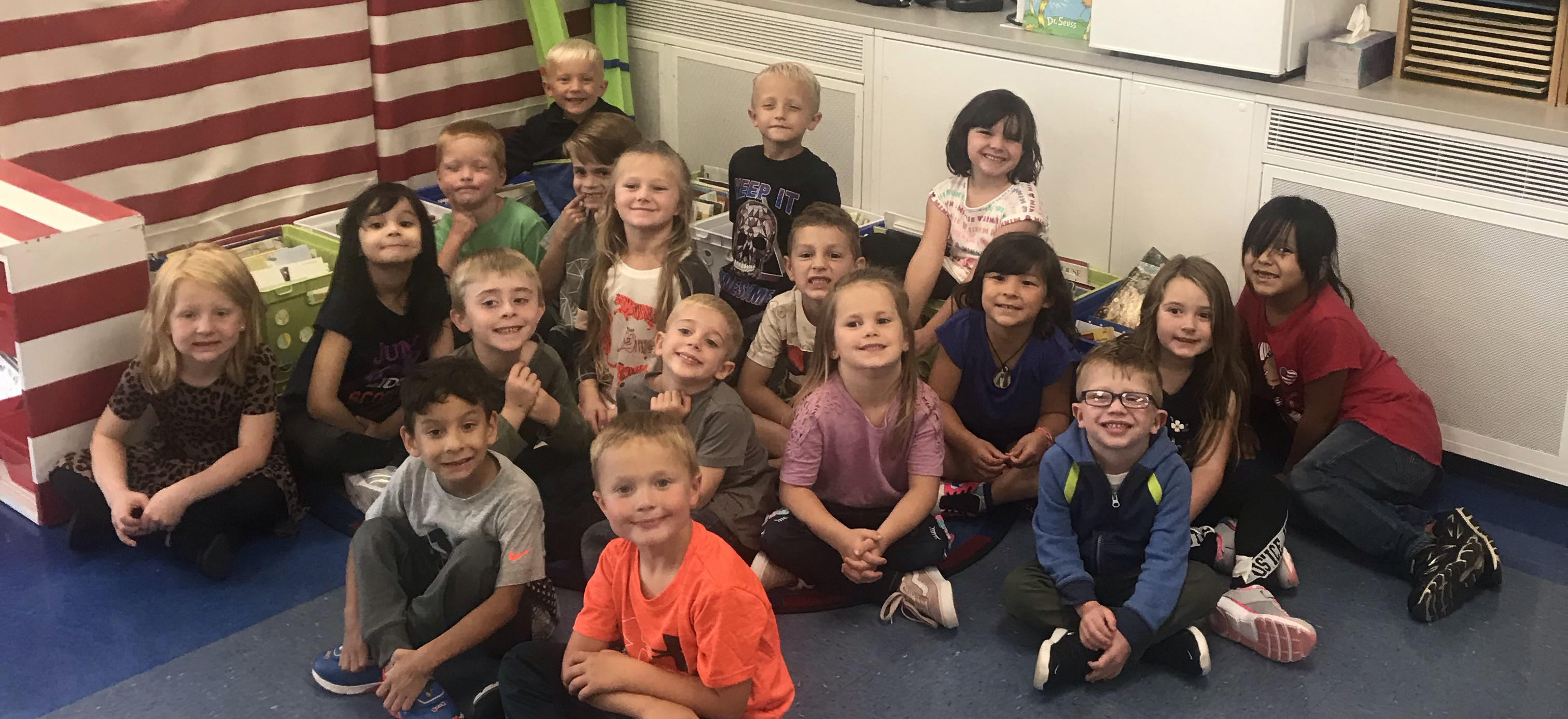 First day of Kindergarten!  Welcome!