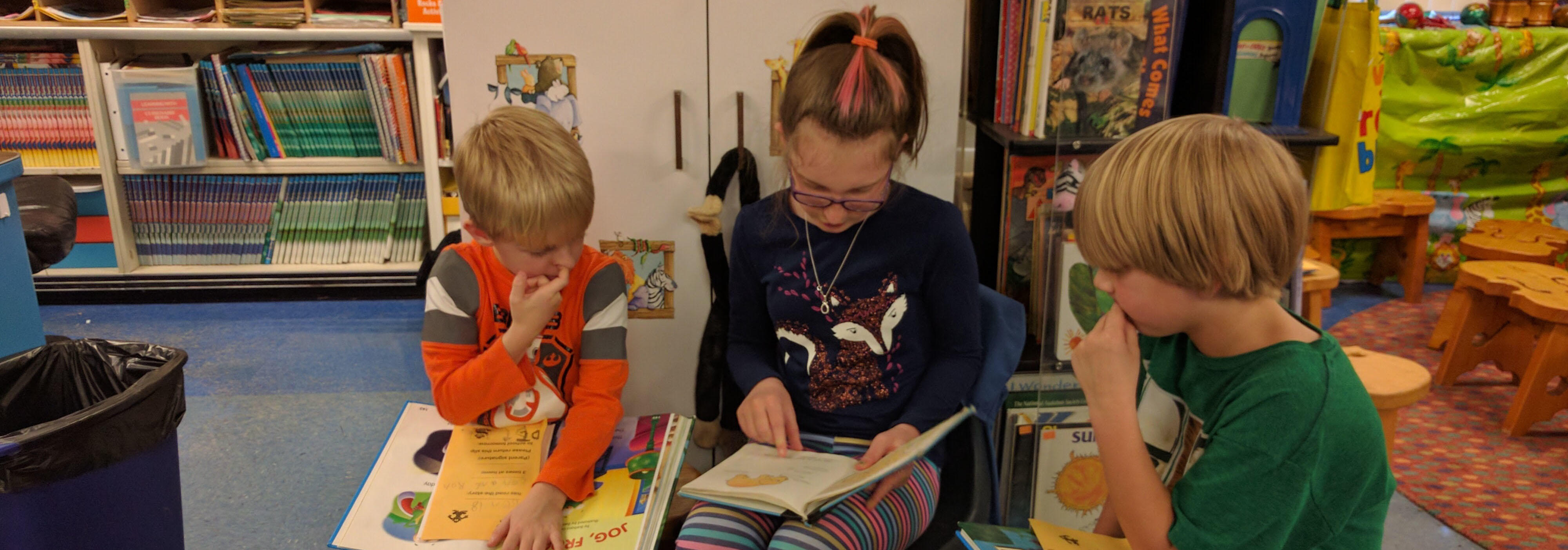 South Terrace students love to share the fun of reading!