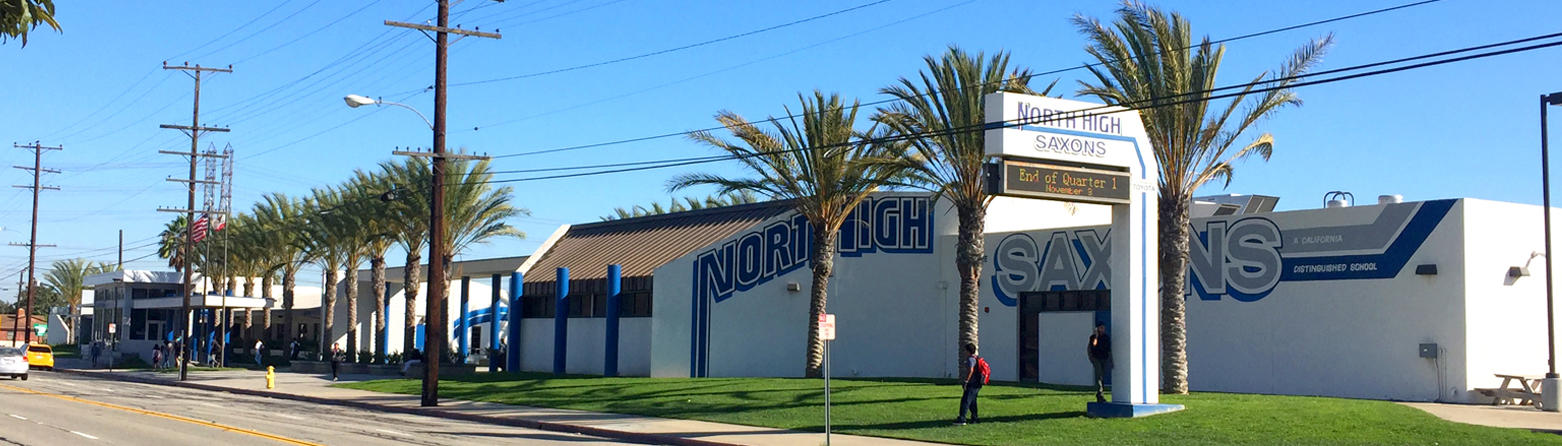 Street view of North High School