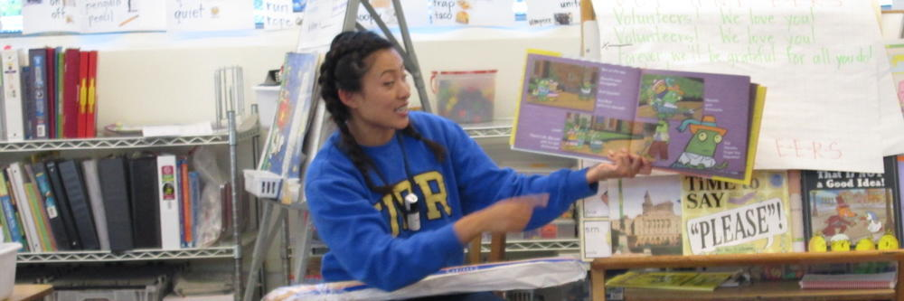 Carr Cubs love to read! Ms. Uy shares her favorite book