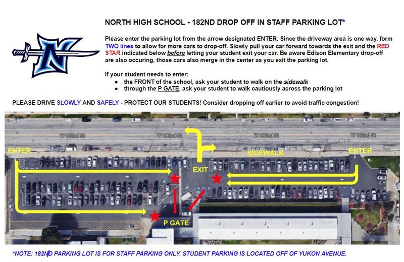 NHS - 182nd Drop Off in Staff Parking Lot