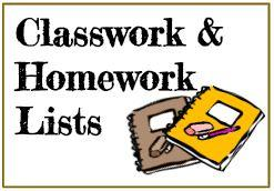 Classwork and Homework Link