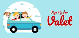 Sign up for Valet