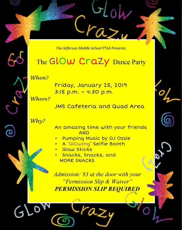 Glow Crazy Dance Party Flyer