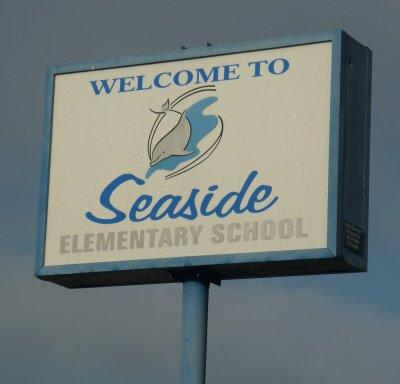 Welcome to Seaside Elementary School billboard