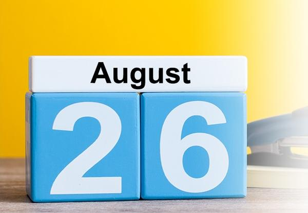 School begins on August 26!