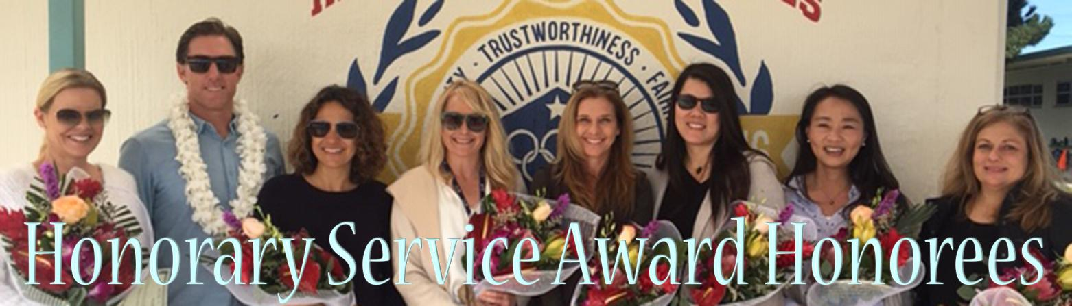 Honorary Service Award Honorees
