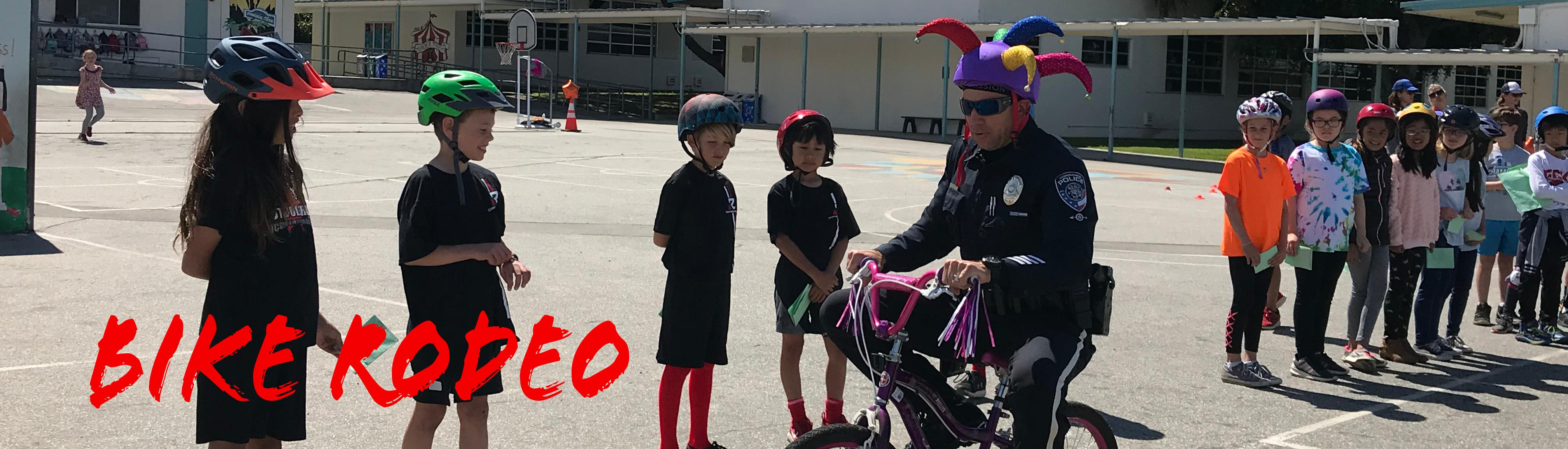 Bike Rodeo Demonstration with Jester