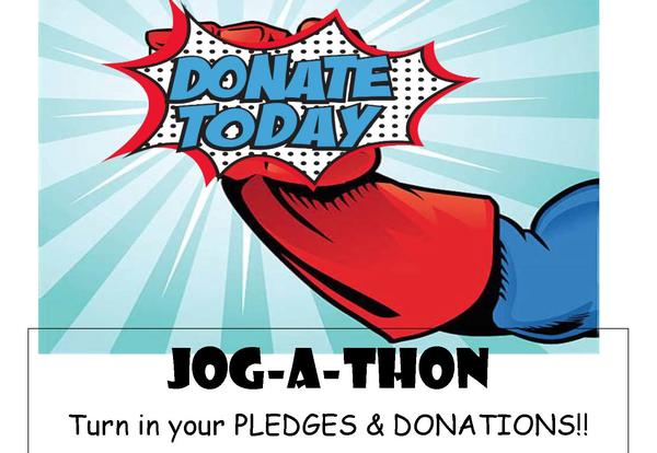 Jog a Thon pledges and donations due date extended to April 19!
