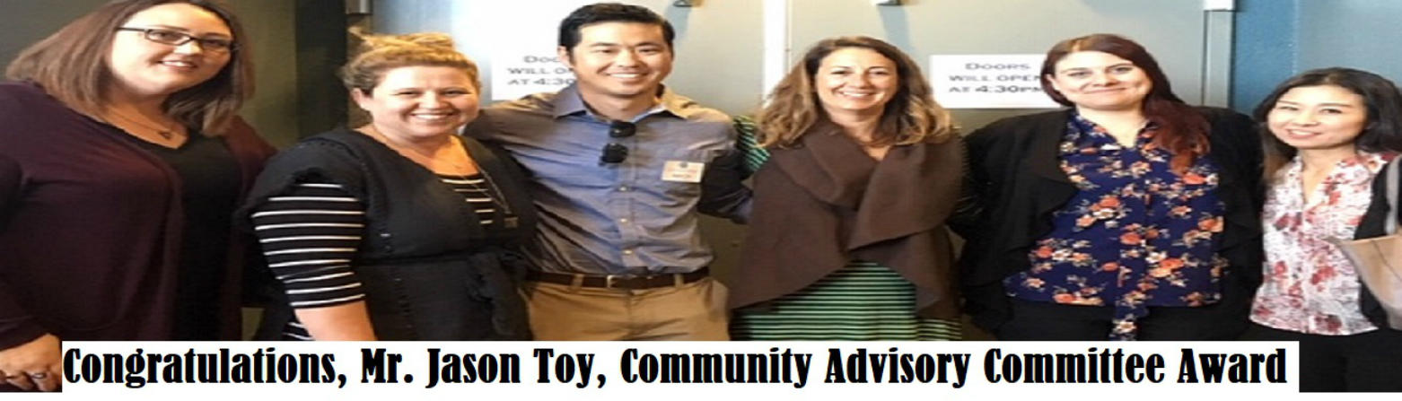 Jason Toy Community Advisory Award