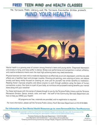 Library Mind your Health 2019 Flyer