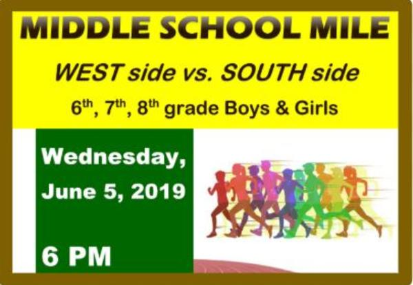 Middle School Mile Run! West-side vs South-side