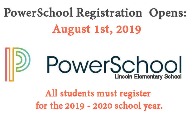 Register for the 2019 -2020 school year