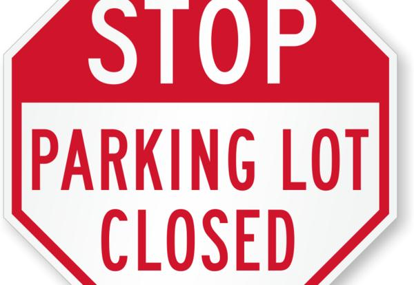 Student Parking Lot Closure