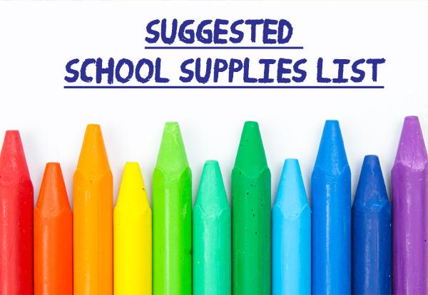 Suggested School Supplies List image