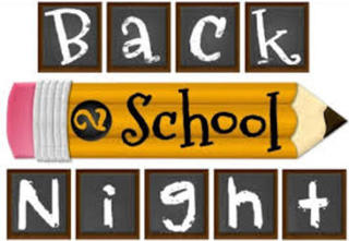 September 12 is Back to School Night