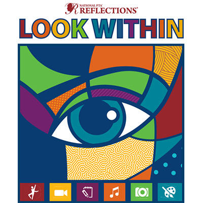 PTA Reflections Logo. This year's theme is Look Within.