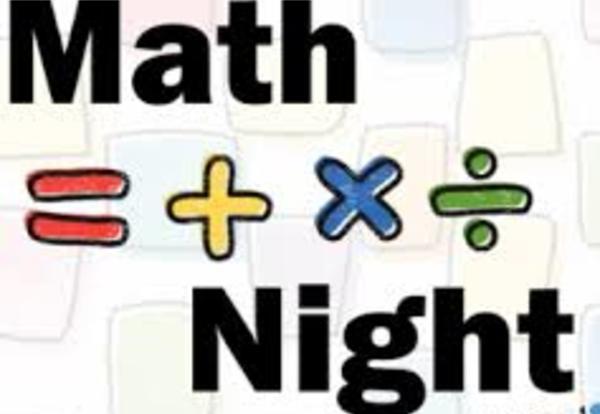 Family Math Night, Thursday, November 21st