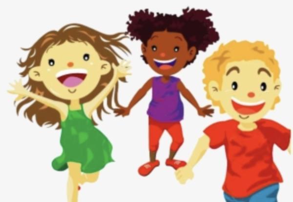Jog-a-thon promo showing 3 happy children running.