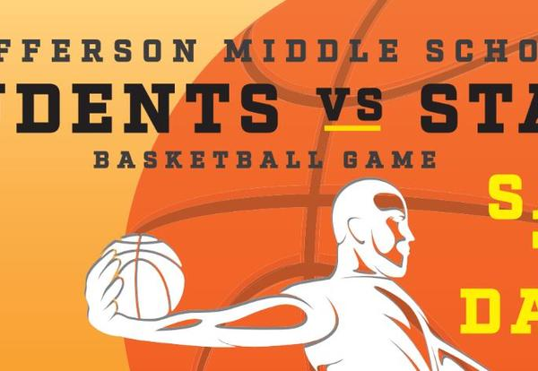 Cancelled: The JMS Student vs Staff Basketball Game will be Tuesday March 17