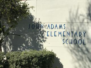 School Name on the side of the building