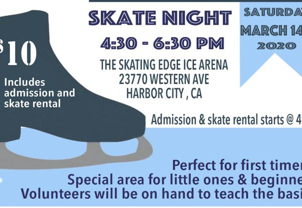 Skate Night flyer