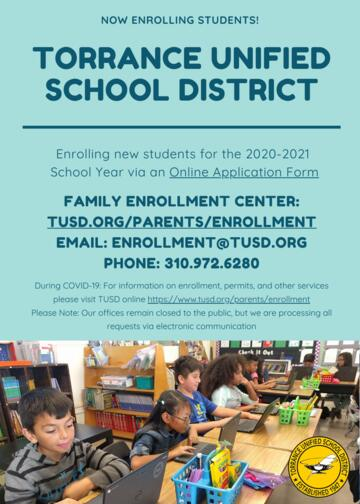 Torrance Unified School District Enrollment information