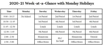 4-Day Week Bell Schedules