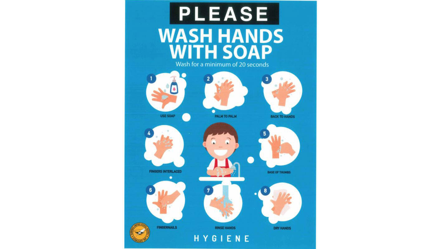 Social Distance Poster wash hands