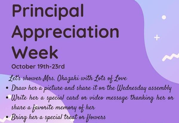 principal appreciation week