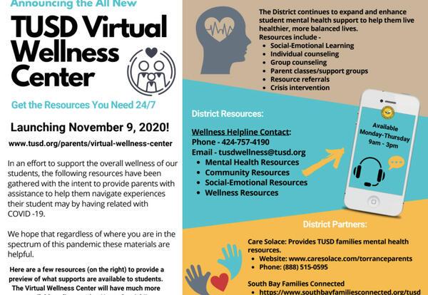 TUSD Virtual Wellness Center & Helpline