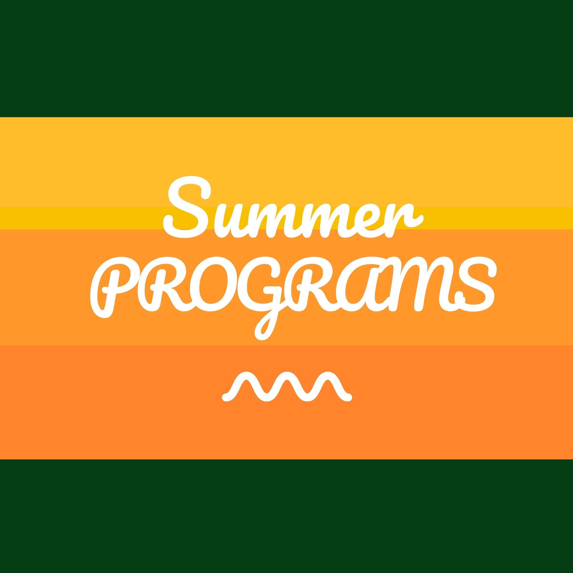 Summer Programs graphic