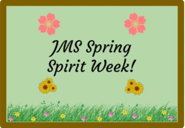Spring Spirit Week 3/29 - 4/2