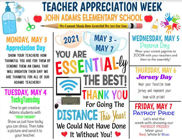 Teacher Appreciation Week! May 3 - May 7