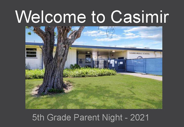 5th Grade Parent Night