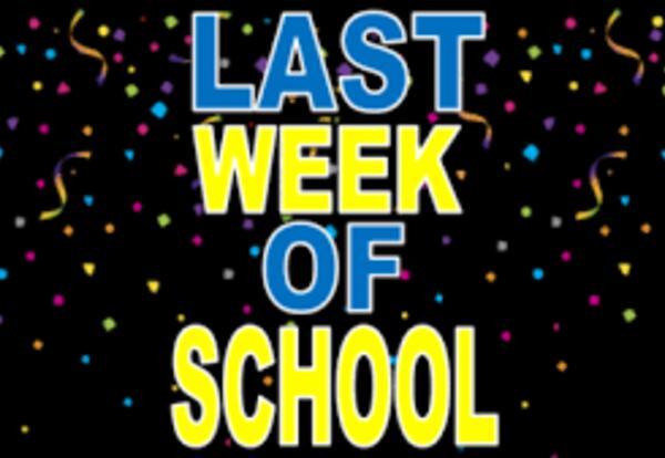 Schedule Last Week of School