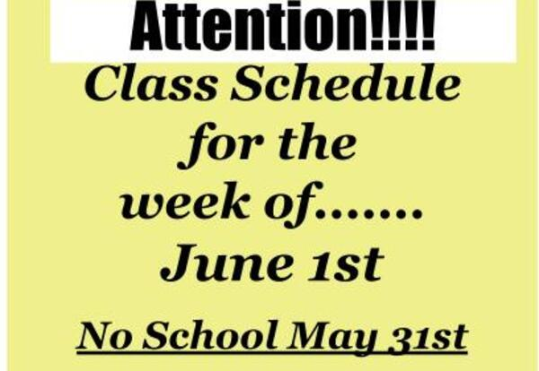 Adjusted Class Schedule