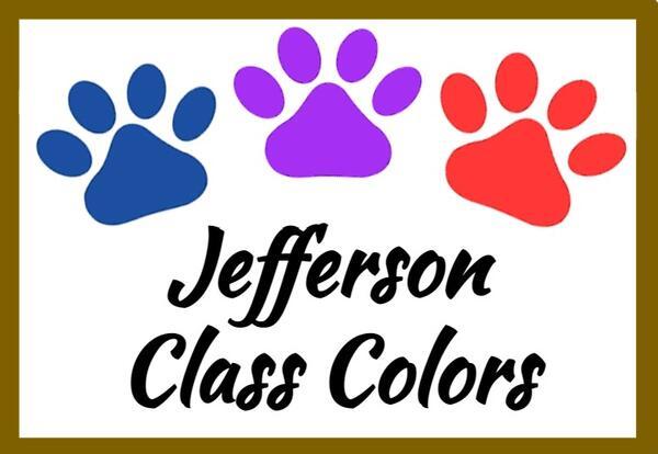"Jefferson ""Class Colors"" for 2021-2022"