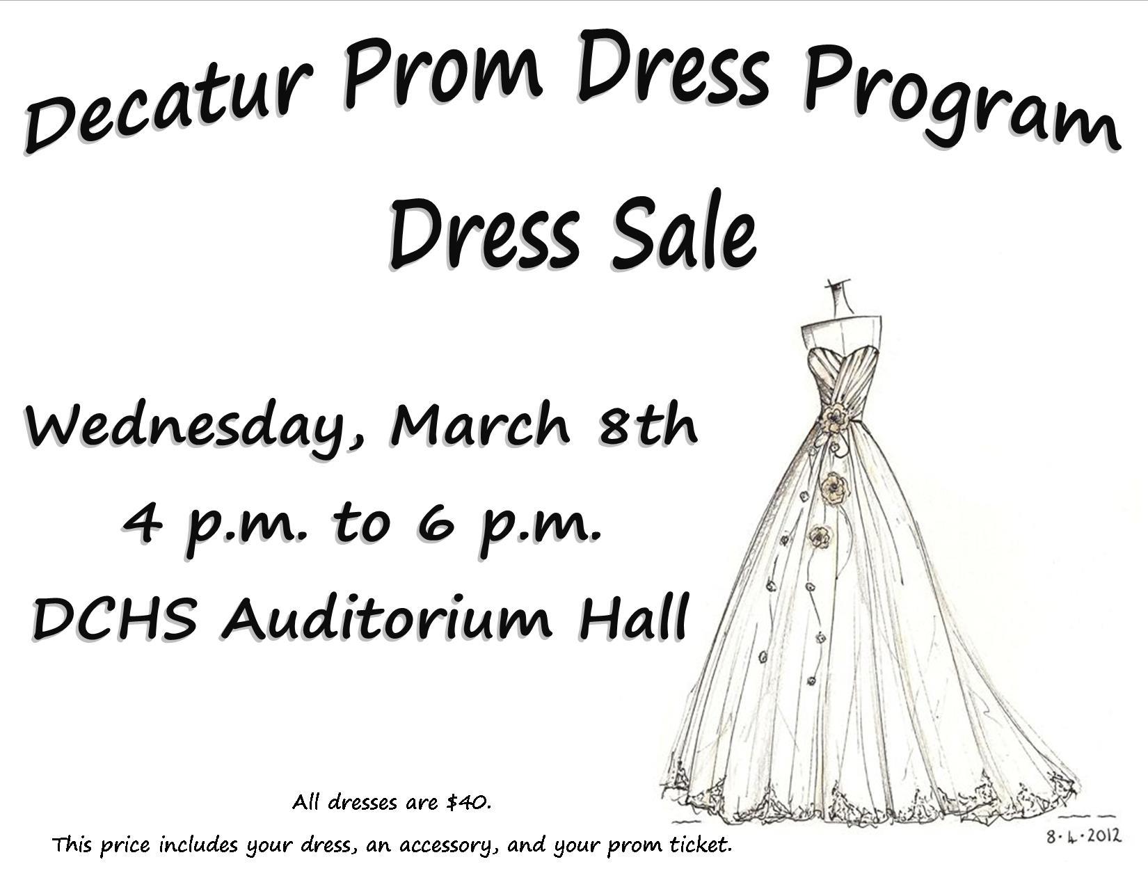 Decatur Prom Dress Program Sale   March 8, 2017   Decatur Central ...