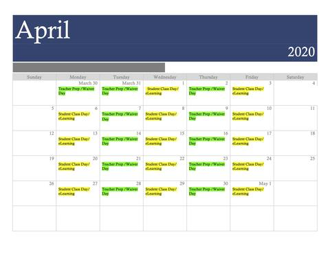 April eLearning Calendar