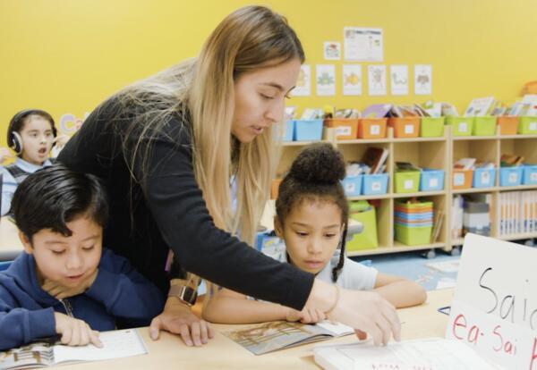 KIPP SoCal teacher instructing student