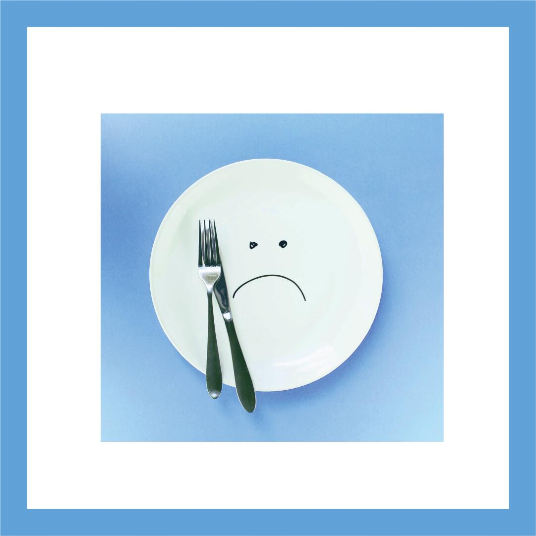 hunger- image of empty sad plate