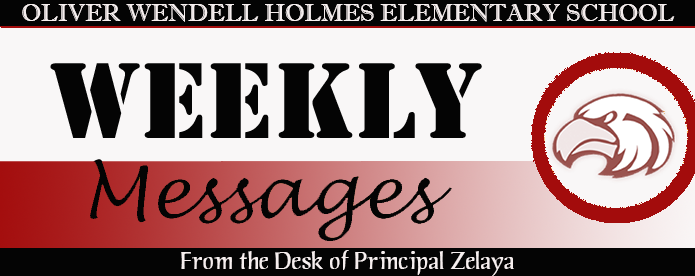 Holmes Weekly Messages header