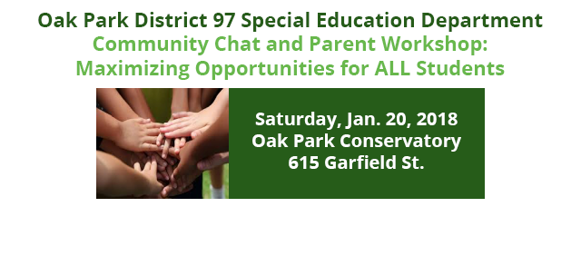Jan. 20 Parent Workshop Flyer