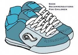 Clip art image of a blue sneaker