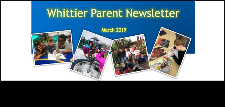 Whittier Parent Newsletter: March 2019