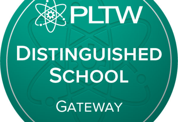 PLTW Distinguished School logo